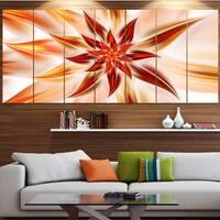 Designart 'Dance of Brown Exotic Flower' Modern Floral Artwork