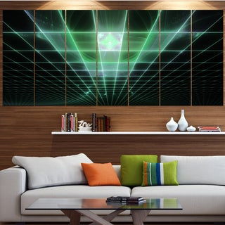 Designart 'Light Green Bat on Radar Screen' Abstract Wall Art on Canvas