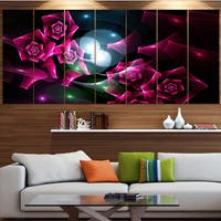 Designart 'Pink Bouquet of Beautiful Roses' Abstract Wall Art on Canvas