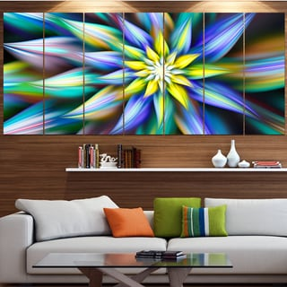 Designart 'Dancing Multi-Color Flower Petals' Modern Floral Artwork