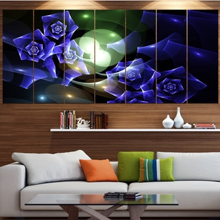 Designart 'Blue Bouquet of Beautiful Roses' Abstract Wall Art on Canvas