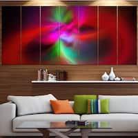 Designart 'Red Spiral Kaleidoscope' Abstract Wall Art Canvas