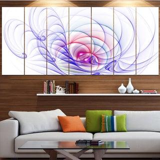 Designart '3D Blue Surreal Illustration' Abstract Wall Art Canvas
