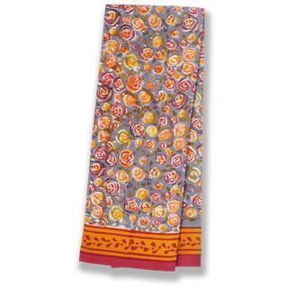 Couleur Nature Autumn Bouquet Orange and Grey Tea Towels Set of 3
