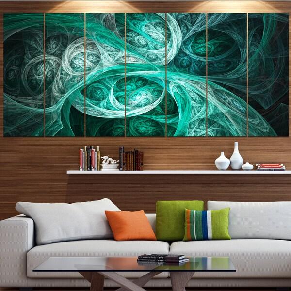 Shop Designart 'Mystic Turquoise Fractal Wallpaper