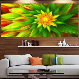 Designart 'Amazing Dance of Green Petals' Modern Floral Artwork
