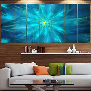 Designart 'Amazing Dance of Blue Petals' Modern Floral Artwork