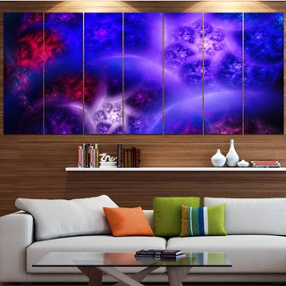 Designart 'Bright Blue Magic Stormy Sky' Abstract Wall Art on Canvas