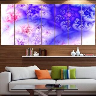 Designart 'Light Blue Magic Stormy Sky' Abstract Wall Art on Canvas
