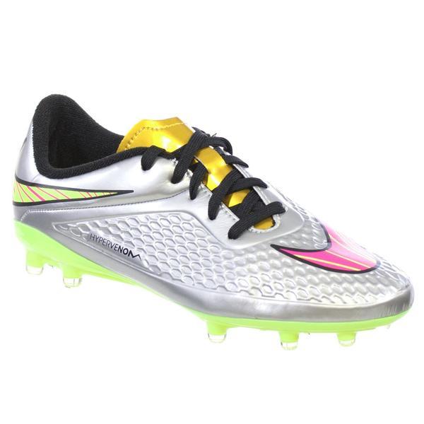 fcf40b3ad55 NIKE JR HYPERVENOM PHELON PERM FG Youth Soccer Cleats Chrome Pink Gold