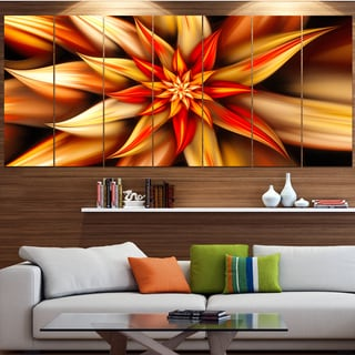 Designart 'Beautiful Brown Flower Petals' Modern Floral Artwork