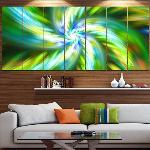 Designart 'Beautiful Green Flower Petals' Modern Floral Artwork