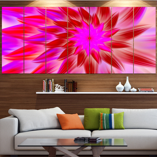 Designart 'Beautiful Pink Flower Petals' Modern Floral Artwork
