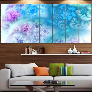 Designart 'Clear Blue Magic Stormy Sky' Abstract Wall Art on Canvas