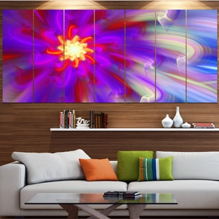 Designart 'Beautiful Purple Flower Petals' Modern Floral Artwork