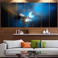 Designart 'Mystic Green Fractal Wallpaper' Abstract Wall Art Canvas