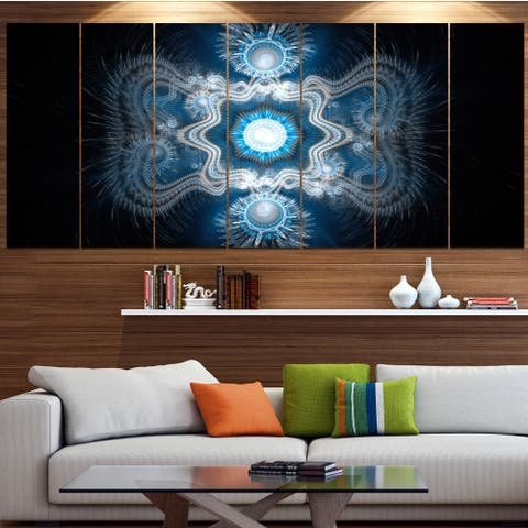 Designart 'Cabalistic Clear Blue Texture' Abstract Wall Art on Canvas