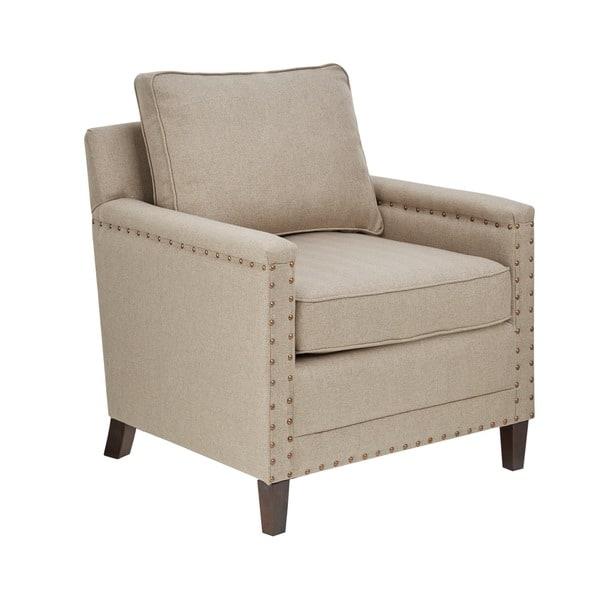 Superb Shop Madison Park Lotte Natural Espresso Accent Chair Machost Co Dining Chair Design Ideas Machostcouk