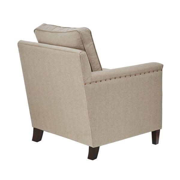 Excellent Shop Madison Park Lotte Natural Espresso Accent Chair Machost Co Dining Chair Design Ideas Machostcouk
