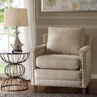 Madison Park Lotte Natural/ Espresso Accent Chair