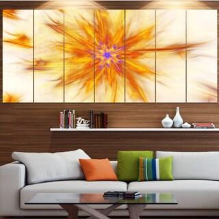 Designart 'Shining Yellow Exotic Fractal Flower' Modern Floral Artwork