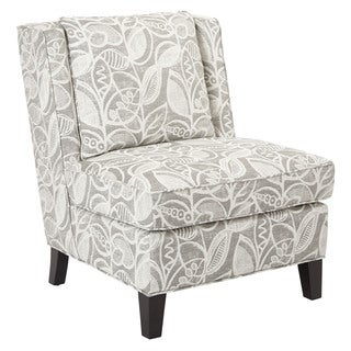 Marseilles Chair With Self Piping And Coffee Colored Legs K/D