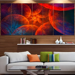 Designart 'Biblical Sky with Red Clouds' Abstract Wall Art Canvas