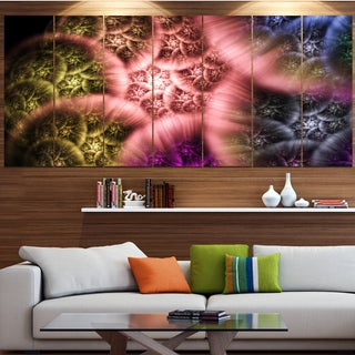 Designart 'Biblical Sky with Multi-Color Clouds' Abstract Wall Art Canvas