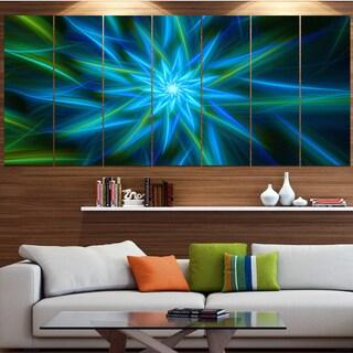 Designart 'Shining Turquoise Exotic Flower' Modern Floral Artwork