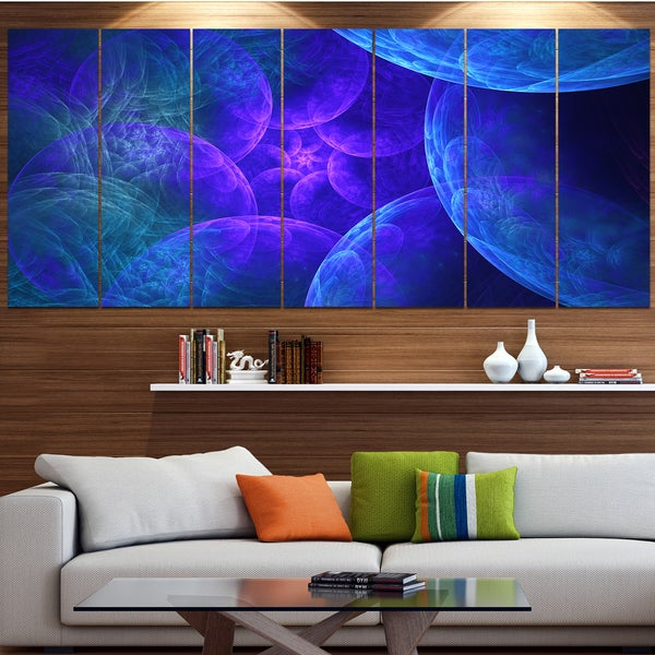 Designart 'Biblical Sky with Blue Clouds' Abstract Wall Art Canvas