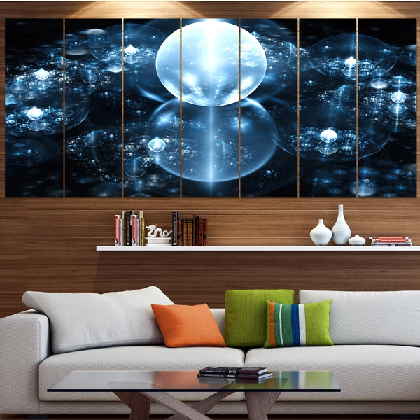 Shop Designart \'Blue Water Drops on Mirror\' Abstract Wall Art Canvas ...