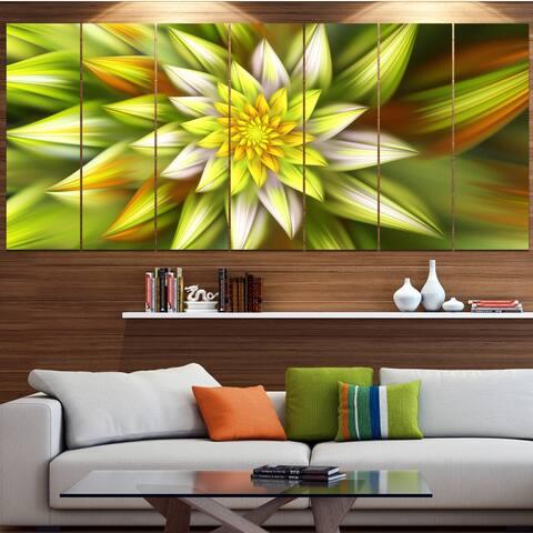 Designart 'Huge Yellow Fractal Flower' Modern Floral Artwork