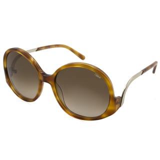 Chloe - CE707S-725 Brown 57 mm Round Sunglasses