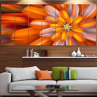 Designart 'Massive Orange Fractal Flower' Modern Floral Artwork