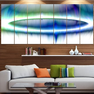 Designart 'Beautiful Blue Northern Lights' Abstract Wall Art on Canvas