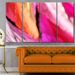Designart 'Red Vibrant Brushstrokes' Abstract Wall Art on Canvas