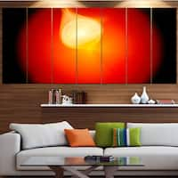 Designart 'Glowing Red Misty Sphere' Abstract Wall Art on Canvas