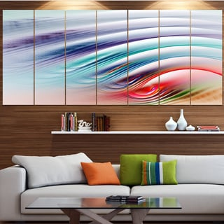 Designart 'Water Ripples Rainbow Waves' Abstract Wall Art on Canvas