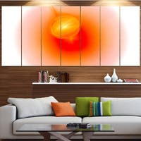 Designart 'Red Luminous Misty Sphere' Abstract Wall Art on Canvas
