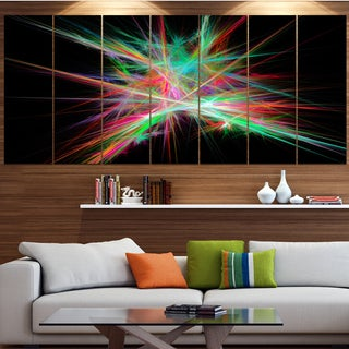 Designart 'Green Red Spectrum of Light' Abstract Wall Art on Canvas