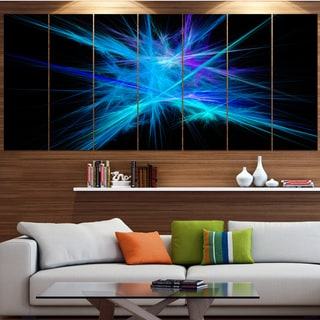 Designart 'Clear Blue Spectrum of Light' Abstract Wall Art on Canvas