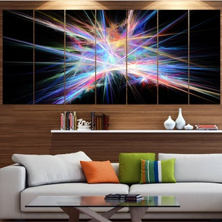 Designart 'Light Blue Spectrum of Light' Abstract Wall Art on Canvas