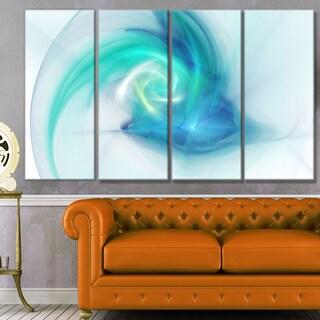 Designart 'Light Blue Fractal Abstract Texture' Abstract Canvas Wall Art