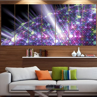 Designart 'Purple Solar Bubbles Planet' Abstract Wall Art on Canvas