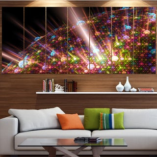 Designart 'Multi-Color Solar Bubbles Planet' Abstract Wall Art on Canvas