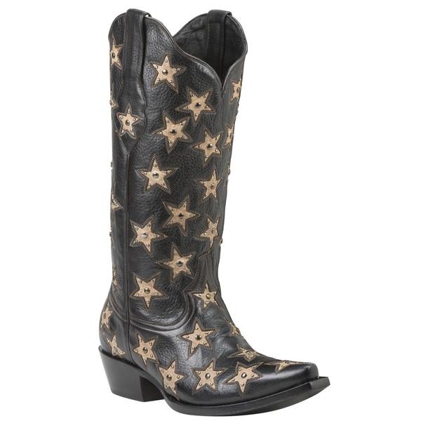 BRAZOS (Black) Women's Cowboy Boots