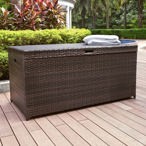 Palm Harbor Outdoor Wicker Storage Bin