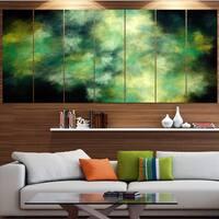 Designart 'Perfect Green Starry Sky' Abstract Canvas Wall Art