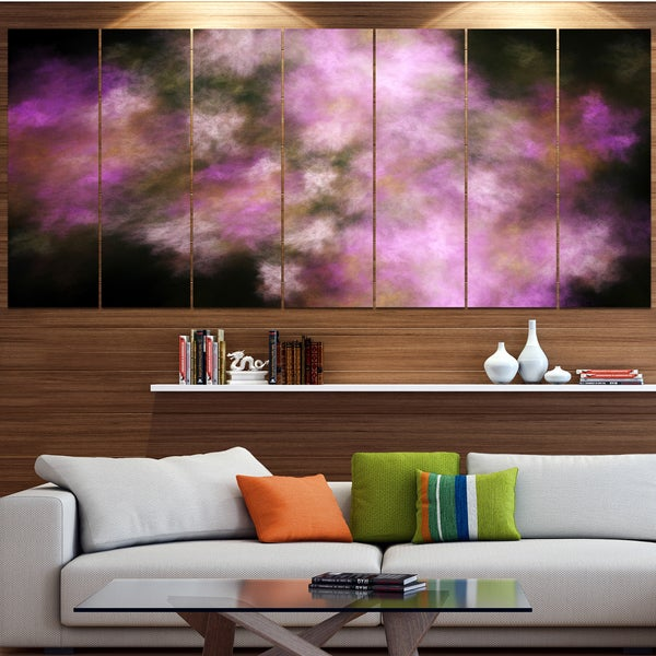 Designart 'Perfect Pink Starry Sky' Abstract Wall Artwork