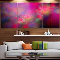 Designart 'Perfect Red Starry Sky' Abstract Wall Artwork